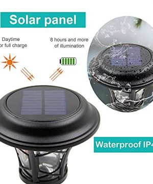 MAGGIFT 6 Pack 25 Lumen Solar Powered Pathway Lights Super Bright SMD LED Outdoor Lights Stainless Steel Glass Waterproof Light For Landscape Lawn Patio Yard Garden Deck Driveway Warm White 0 2 300x360