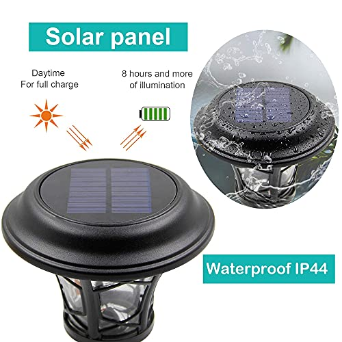 MAGGIFT 6 Pack 25 Lumen Solar Powered Pathway Lights Super Bright SMD LED Outdoor Lights Stainless Steel Glass Waterproof Light For Landscape Lawn Patio Yard Garden Deck Driveway Warm White 0 2