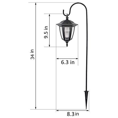 Maggift 34 Inch Hanging Solar Lights Dual Use Shepherd Hook Lights With 2 Shepherd Hooks Outdoor Solar Coach Lights 2 Pack 0 2