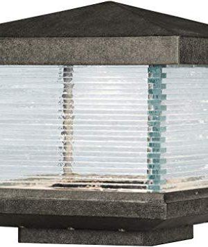 Maxim 55736CLET Triumph VX LED Clear Glass Heavy Duty Outdoor PostPole Mount 1 Light 12 Watt 9H X 10W Earth Tone 0 300x356
