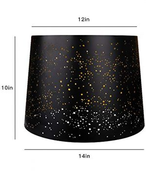 Metal Etching Process Large Lamp Shades Alucset Drum Big Lampshades For Table Lamp And Floor Light Sky Stars Design 12x14x10 Inch Spider BlackGold 0 0 300x360