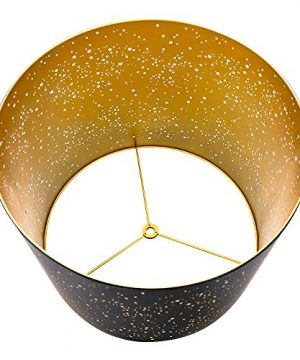 Metal Etching Process Large Lamp Shades Alucset Drum Big Lampshades For Table Lamp And Floor Light Sky Stars Design 12x14x10 Inch Spider BlackGold 0 3 300x360