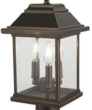 Minka Lavery Outdoor Post Lights 72636 143C Mariners Pointe Exterior Post Lantern 3 Light 180 Watts Oil Rubbed Bronze 0 300x360