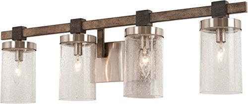 Minka Lavery Wall Light Fixtures 4634 106 Bridlewood Bath Vanity Lighting 4 Light 240 Watts Stone Grey 0