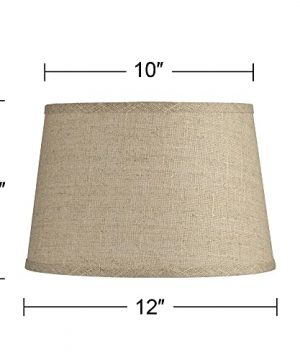 Natural Fine Burlap Small Drum Lamp Shade 10 Top X 12 Bottom X 8 Slant Spider Replacement With Harp And Finial Brentwood 0 2 300x360