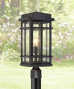 Neri Mission Outdoor Post Light Fixture Oil Rubbed Bronze 19 14 Clear Seedy Glass For Exterior House Porch Patio Deck Garden Yard Driveway Walkway John Timberland 0 300x360
