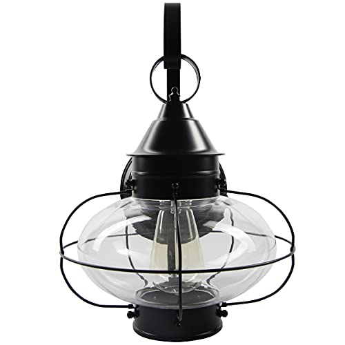 Norwell Lighting 1510 BL CL Classic Onion One Light Large Outdoor Post Mount Black Finish 0