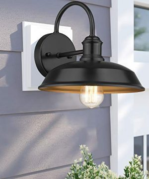 Odeums Farmhouse Barn Lights Outdoor Wall Lights Exterior Wall Lamps Industrial Wall Lighting Fixture Wall Mount Light In Black Finish With Copper Interior Black 4 Pack 0 2 300x360
