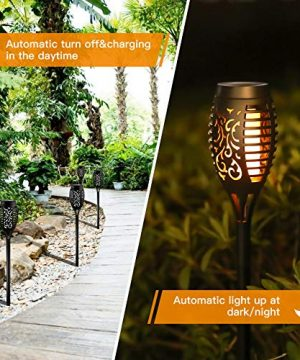 Otdair Solar Torch Lights With Flickering Flame 12LED Tiki Torch Solar Lights Outdoor IP65 Waterproof Mini Solar Torch Light Auto OnOff For Garden Patio Yard Pathway 8 Packs 0 0 300x360