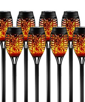 Otdair Solar Torch Lights With Flickering Flame 12LED Tiki Torch Solar Lights Outdoor IP65 Waterproof Mini Solar Torch Light Auto OnOff For Garden Patio Yard Pathway 8 Packs 0 300x360