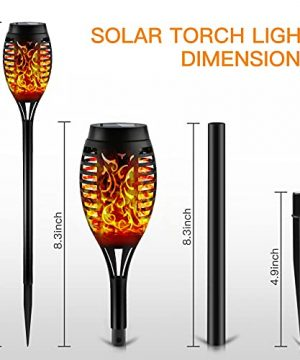 Otdair Solar Torch Lights With Flickering Flame 12LED Tiki Torch Solar Lights Outdoor IP65 Waterproof Mini Solar Torch Light Auto OnOff For Garden Patio Yard Pathway 8 Packs 0 4 300x360
