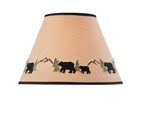 Park Designs Black Bear Embroidered Shade 12 0