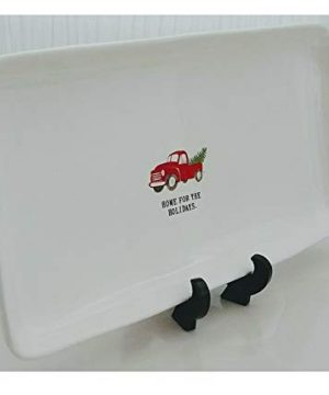 Rae Dunn Artisan Collection Home For The Holidays Classic Farmhouse Pickup Truck Christmas Ceramic Tray Platter 0 0 300x360