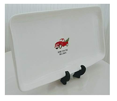 Rae Dunn Artisan Collection Home For The Holidays Classic Farmhouse Pickup Truck Christmas Ceramic Tray Platter 0 0