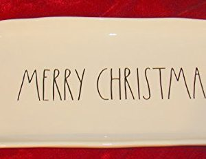 Rae Dunn MERRY CHRISTMAS Platter Tray With Black Letters 0 300x231