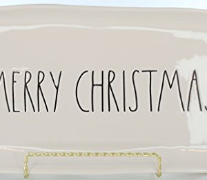 Rae Dunn Magenta Ceramic Platter Merry Christmas CreamBlack 0 300x260