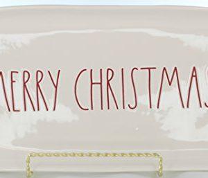 Rae Dunn Magenta Ceramic Platter Merry Christmas CreamRed 0 300x257
