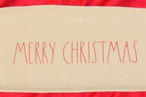 Rae Dunn Magenta MERRY CHRISTMAS Platter Tray Red Letters 0 300x199