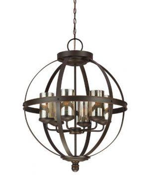 Sea Gull Lighting 3110406 715 Sfera Six Light Chandelier Hanging Modern Fixture Autumn Bronze Finish 0 300x360