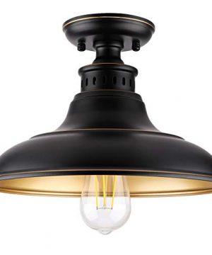 Semi Flush Mount Ceiling Light Farmhouse Light Fixture Industrial Flush Mount Ceiling Light For HallwayStairwayFoyerKitchenPorchEntryway 0 300x360