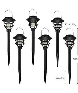 Solar Pathway Lights Outdoor Waterproof 6pack Pearlstar Solar Powered Garden Path Lights With Bright Cool White Edison Light Bulb For Yard Patio Lawn Driveway Landscape Lighting Auto OnOFF Black 0 300x360
