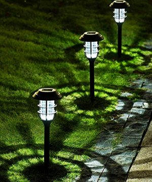 Solpex 8 Pack Solar Pathway Lights Outdoor Solar Powered Garden Lights Waterproof Led Path Lights For Patio Lawn Yard And Landscape Cold White 0 300x360