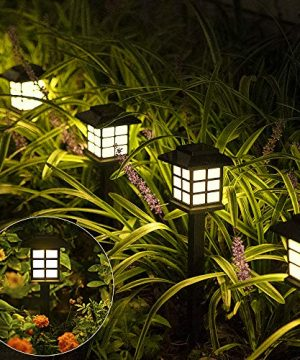 Solpex Solar Garden Lights12 Pack Solar Path Lights Solar Walkway Lights Outdoor Solar Pathway Lights Outdoor Waterproof For Garden Patio Yard Landscape Pathway And DrivewayWarm White 0 300x360