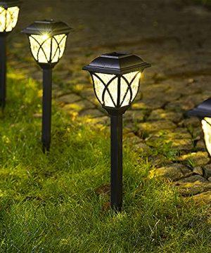 Solpex Solar Pathway Lights Outdoor LED Solar Garden Lights Waterproof Solar Landscape Lights For Lawn Patio Yard Garden Walkway 6 Pack 0 300x360