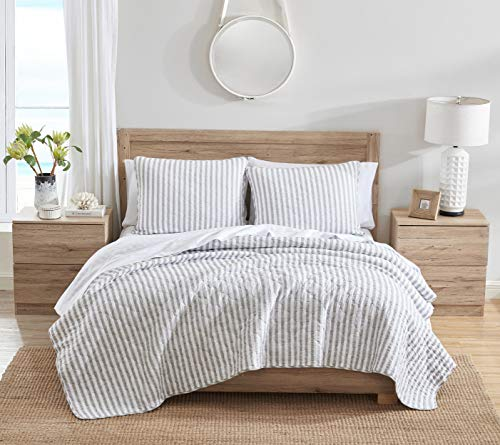 Stone Cottage Willow Way Collection Quilt Set 100 Cotton Reversible Lightweight Breathable Bedding With Matching Shams Pre Washed For Added Softness Queen Grey 0 0