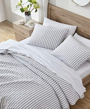 Stone Cottage Willow Way Collection Quilt Set 100 Cotton Reversible Lightweight Breathable Bedding With Matching Shams Pre Washed For Added Softness Queen Grey 0 1 300x360