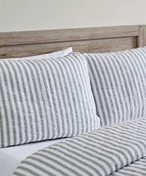 Stone Cottage Willow Way Collection Quilt Set 100 Cotton Reversible Lightweight Breathable Bedding With Matching Shams Pre Washed For Added Softness Queen Grey 0 2 300x360