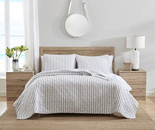 Stone Cottage Willow Way Collection Quilt Set 100 Cotton Reversible Lightweight Breathable Bedding With Matching Shams Pre Washed For Added Softness Queen Grey 0