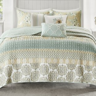 Tappen+Standard+Cotton+210+TC+Reversible+Traditional+6+Piece+Coverlet+_+Bedspread+Set