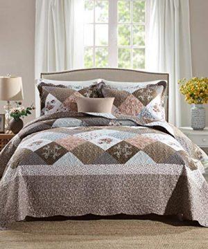 Travan 3 Piece Queen Quilt Sets With Shams Oversized Bedding Bedspread Coverlet Set 0 300x360