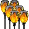 Upgraded 6 Pack Super Larger Size Solar Flame TorchUltra Bright Solar Lights Outdoor Decorative With Flickering Flame Waterproof Outdoor Lights For Party Backyard Garden Pathway 0 100x100