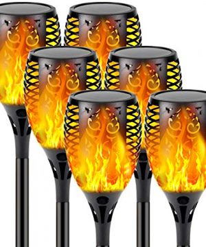 Upgraded 6 Pack Super Larger Size Solar Flame TorchUltra Bright Solar Lights Outdoor Decorative With Flickering Flame Waterproof Outdoor Lights For Party Backyard Garden Pathway 0 300x360