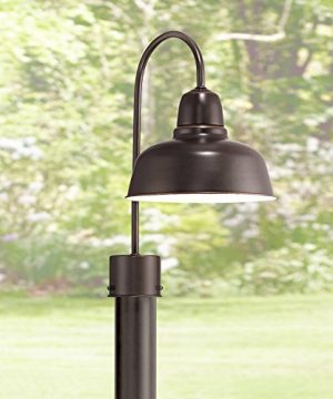 Urban Barn Farmhouse Industrial Outdoor Post Light Fixture Farmhouse Oil Rubbed Bronze 15 34 For Exterior House Porch Patio Outside Deck Garage Yard Driveway Home Lawn Walkway John Timberland 0 300x360