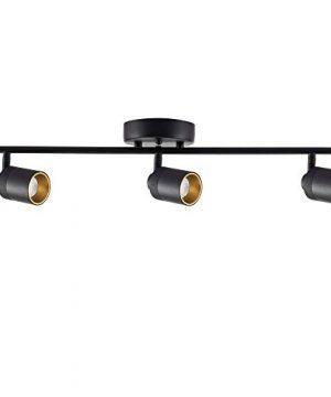 Vidalite LED Track Fixture 7W Three Bulb Fixed Rail Ceiling Lighting With Rotating Heads 3000K Modern Interior Spotlight For Kitchen Art And Living Room 1470 Lumens 3 Black 0 300x360