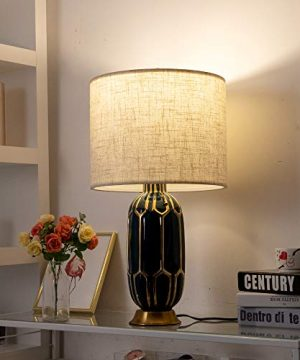 Wellmet 16x16x12 Assembly Required Lampshade For Table Lamp Bedside LampFloor LampFabric Drum Lampshade Classic Modern StyleSpider FitterLinen 0 3 300x360