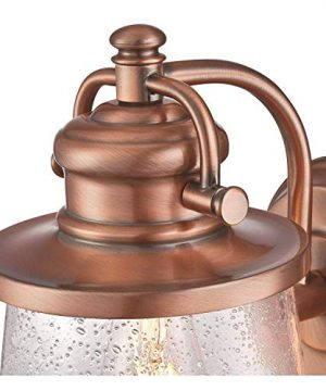Westinghouse Emma Jane One Light Washed Copper Finish With Clear Seeded Glass Outdoor Wall Fixture Copper 2 Pack 0 1 300x360