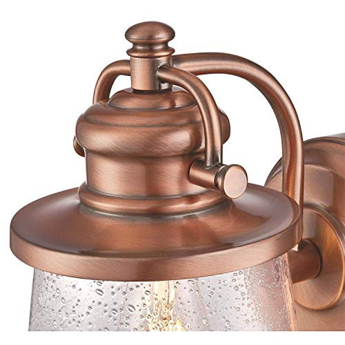 Westinghouse Emma Jane One Light Washed Copper Finish With Clear Seeded Glass Outdoor Wall Fixture Copper 2 Pack 0 1