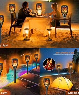 YUJENY Solar Torch Lights Upgraded Waterproof Landscape Garden Pathway Light With Vivid Dancing Flickering Flames With Auto OnOff Dusk To Dawn For Garden Patio Yard And Backyard Decor 0 0 300x360