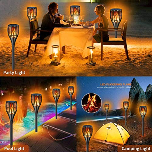 YUJENY Solar Torch Lights Upgraded Waterproof Landscape Garden Pathway Light With Vivid Dancing Flickering Flames With Auto OnOff Dusk To Dawn For Garden Patio Yard And Backyard Decor 0 0