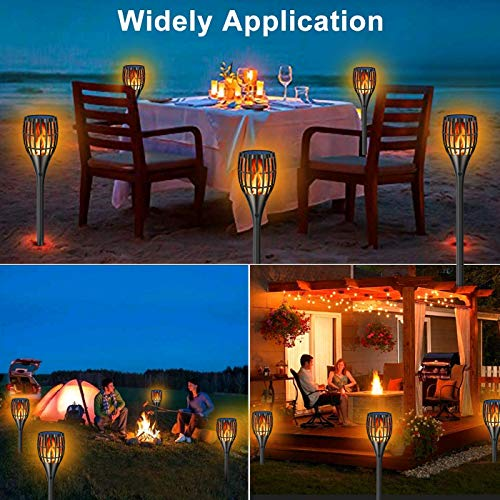 YUJENY Solar Torch Lights Upgraded Waterproof Landscape Garden Pathway Light With Vivid Dancing Flickering Flames With Auto OnOff Dusk To Dawn For Garden Patio Yard And Backyard Decor 0 2