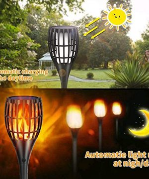 YUJENY Solar Torch Lights Upgraded Waterproof Landscape Garden Pathway Light With Vivid Dancing Flickering Flames With Auto OnOff Dusk To Dawn For Garden Patio Yard And Backyard Decor 0 3 300x360