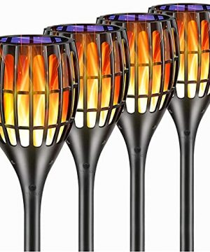 YUJENY Solar Torch Lights Upgraded Waterproof Landscape Garden Pathway Light With Vivid Dancing Flickering Flames With Auto OnOff Dusk To Dawn For Garden Patio Yard And Backyard Decor 0 300x360