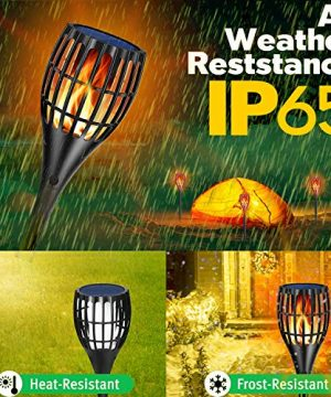 YUJENY Solar Torch Lights Upgraded Waterproof Landscape Garden Pathway Light With Vivid Dancing Flickering Flames With Auto OnOff Dusk To Dawn For Garden Patio Yard And Backyard Decor 0 4 300x360