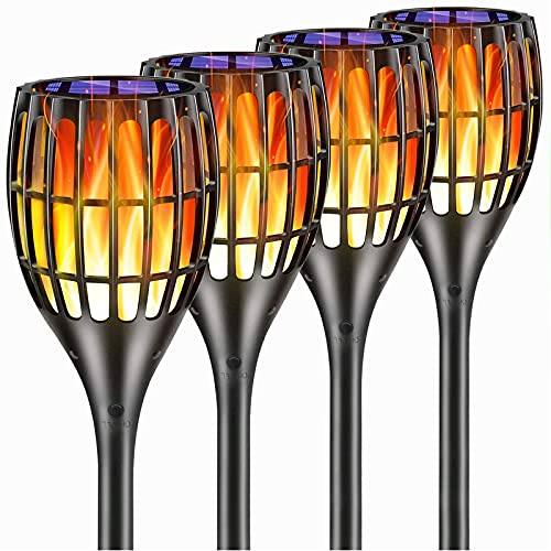 YUJENY Solar Torch Lights Upgraded Waterproof Landscape Garden Pathway Light With Vivid Dancing Flickering Flames With Auto OnOff Dusk To Dawn For Garden Patio Yard And Backyard Decor 0