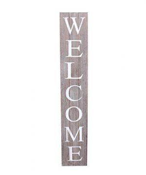 ALBEN Welcome Sign For Front Door Porch 5 Feet Tall Vertical Wooden Outdoor And Indoor Welcome Home Decor Sign Wall Decorations Grey 0 300x360