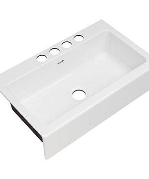 American Standard 77SB36220A308 Delancey 36 X 22 Single Bowl Apron Front Cast Iron Kitchen Sink 36 X 22 Inch Brilliant White 0 300x360